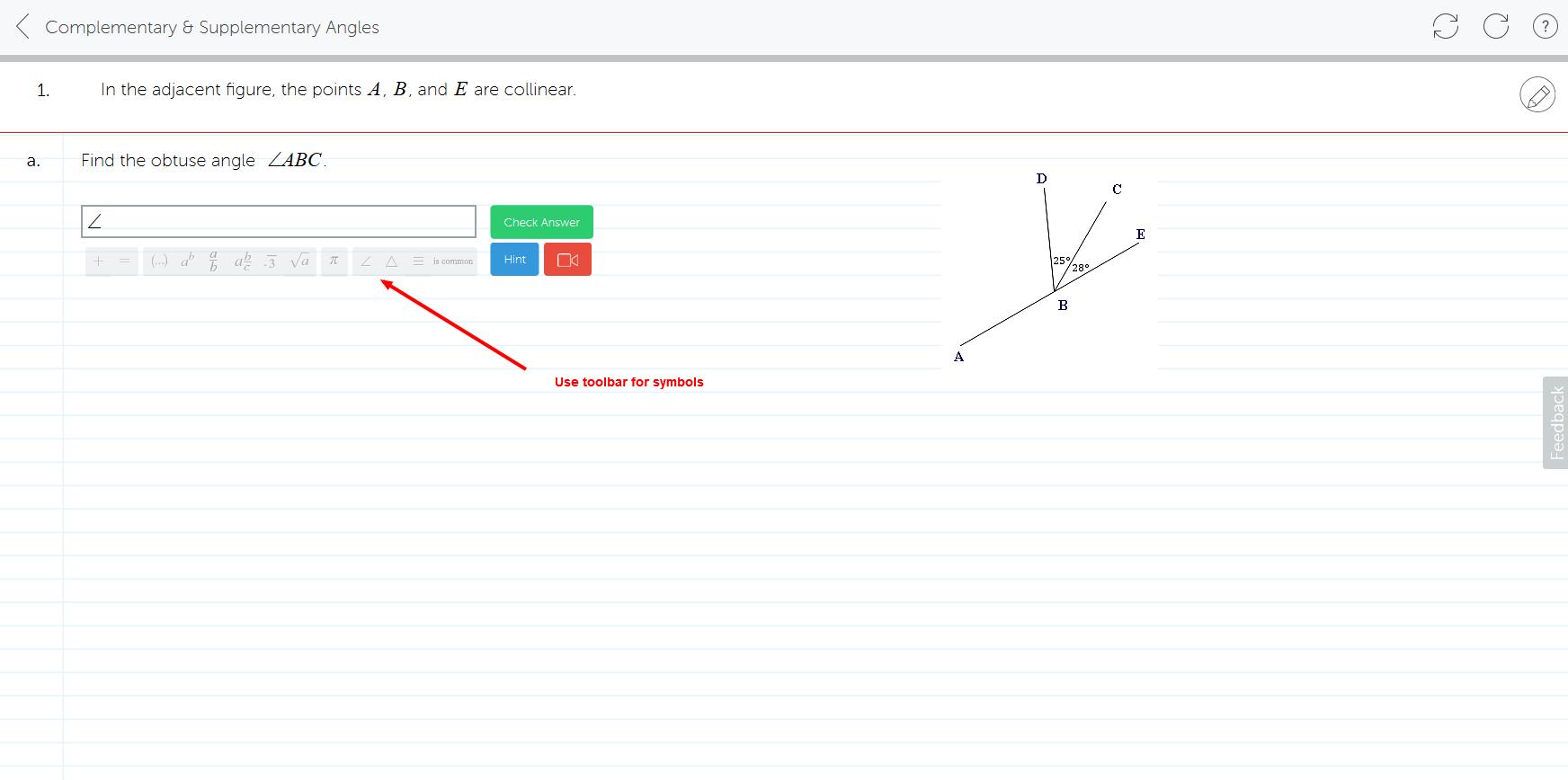 Inserting Symbols Mathspace Support