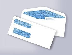 100 Quick-books Double Window Security Envelopes - For Checks, Invoices etc.