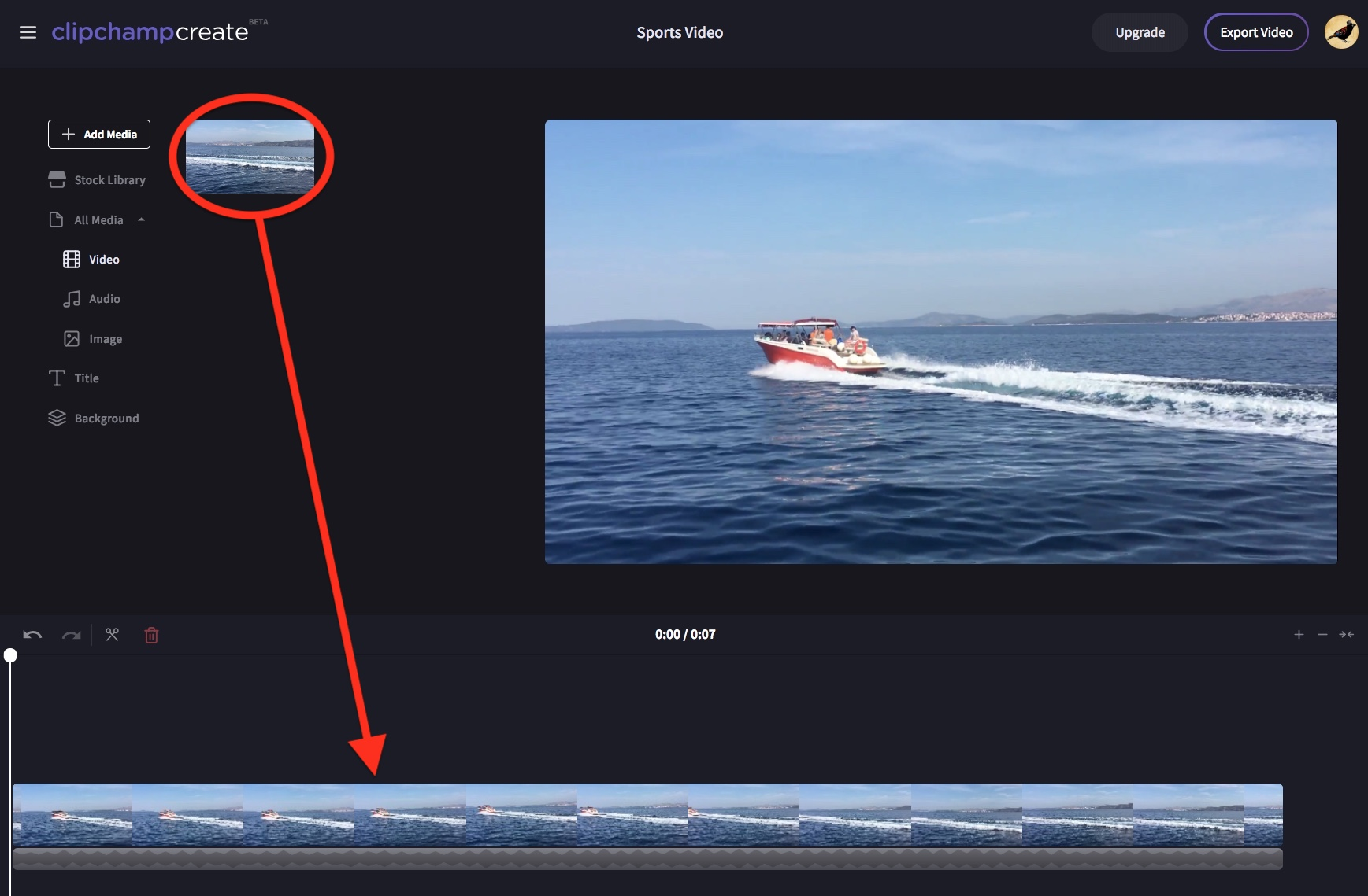 Flipping videos vertically or horizontally clipchamp help center drag and drop the video or image into the timeline ccuart Choice Image