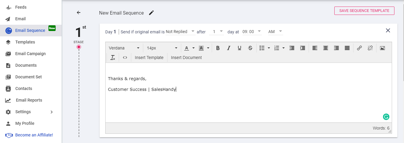 How to create a single email sequence?   SalesHandy Help Center