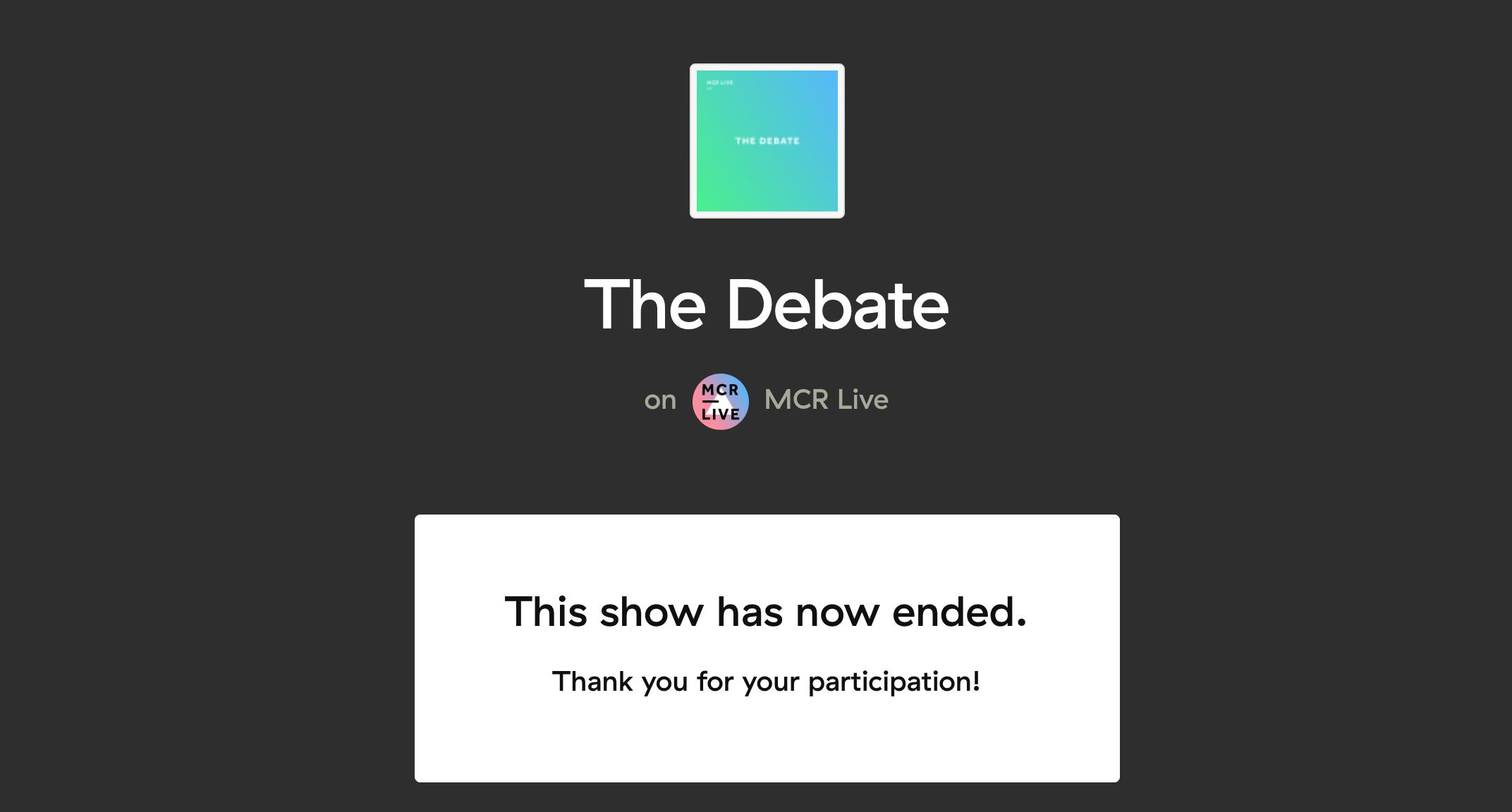 Talk show caller screen