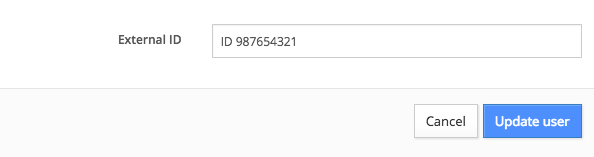 edit external ID for user