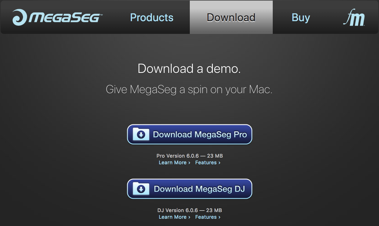 Downloading MegaSeg.