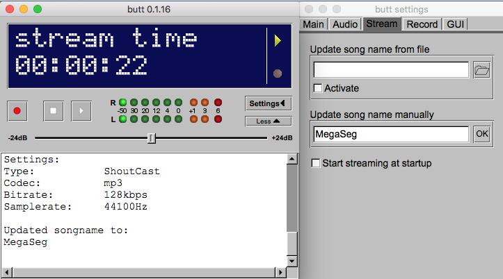 BUTT broadcaster stream metadata.