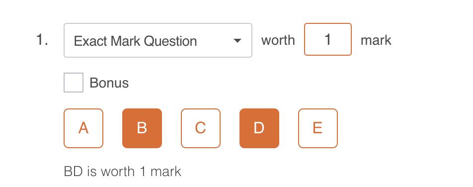 Image: Exact Mark marking scheme.