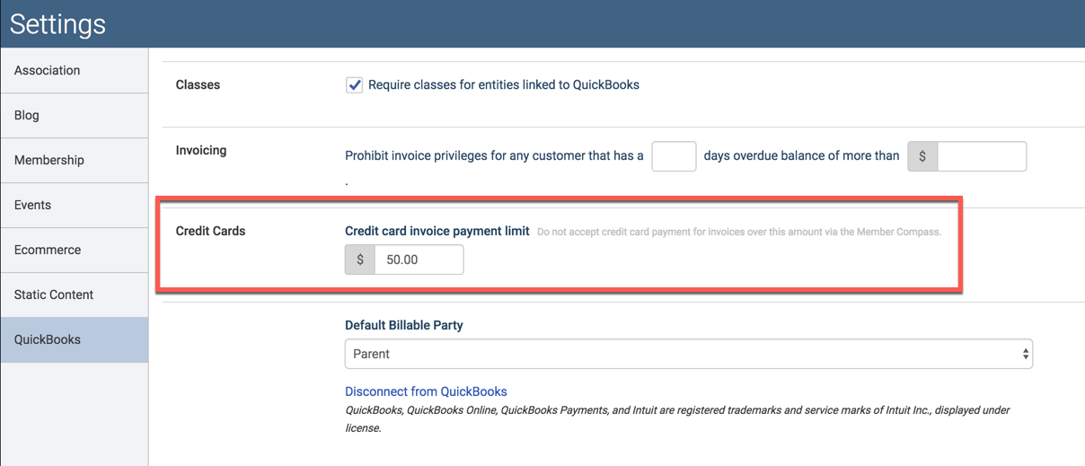 Prohibit Credit Card Payments On Invoices Greater Than A Certain - Quickbooks invoice credit card payment