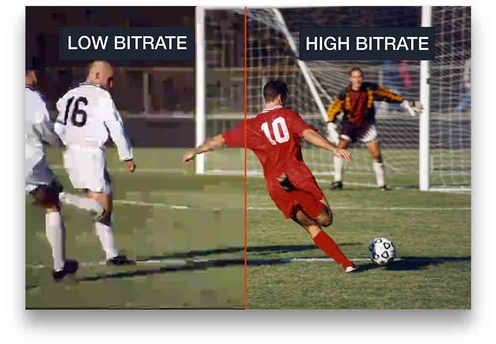 Low and high bitrate comparison