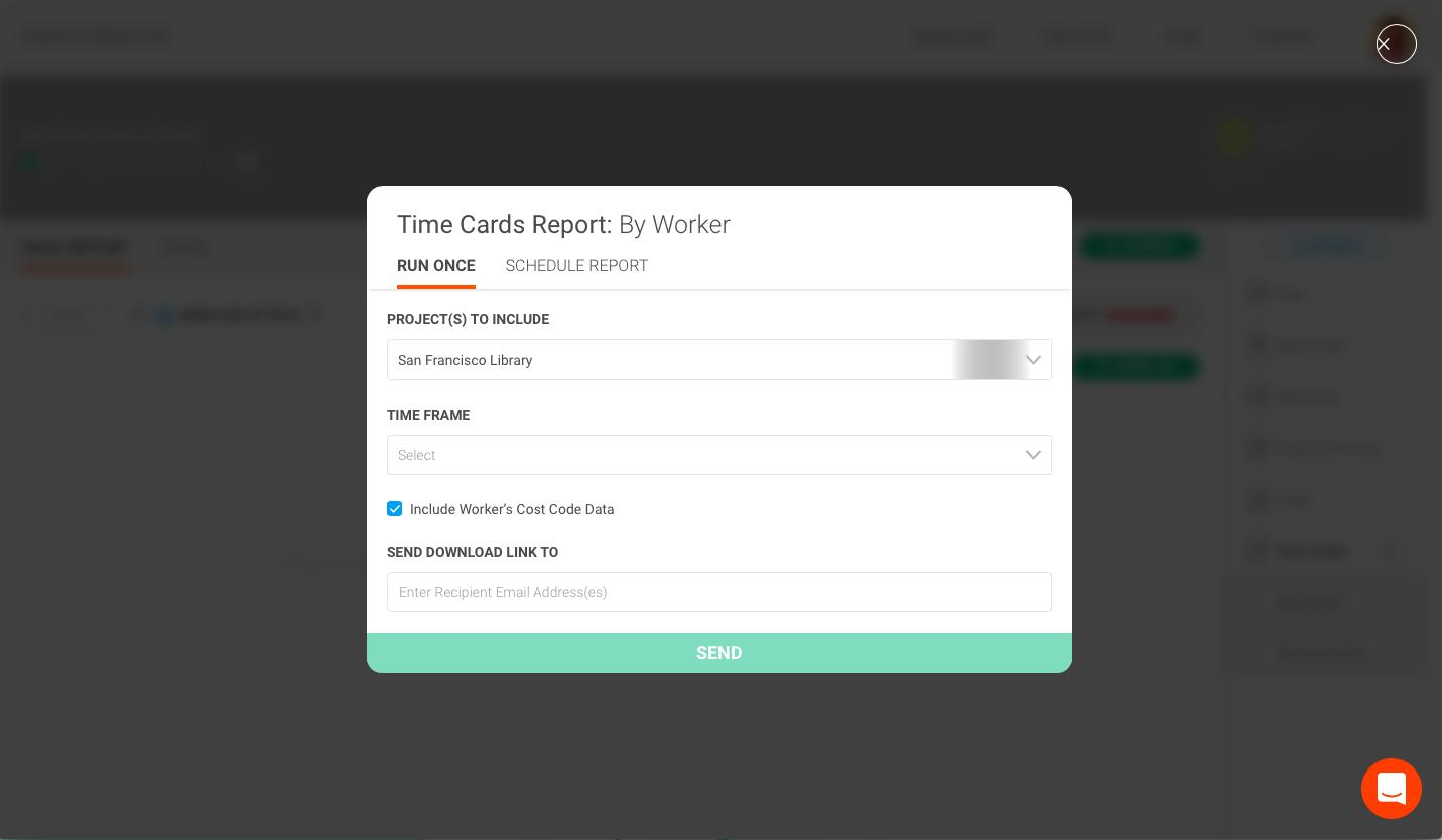 time cards running reports raken help center