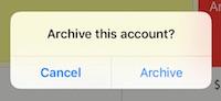 posBoss - Confirm account archival
