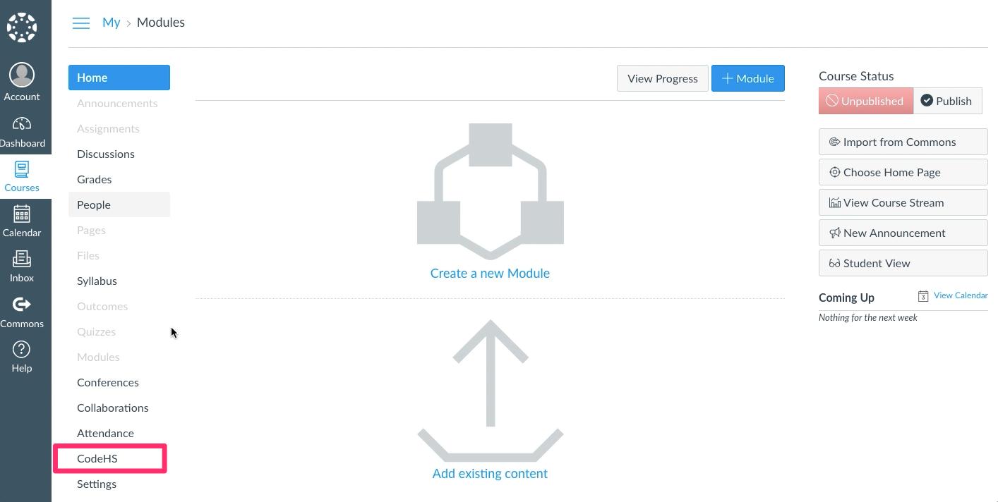 Screenshot of Canvas SSO Integration