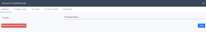 Ardoq account preferences
