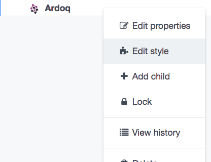 Ardoq edit style