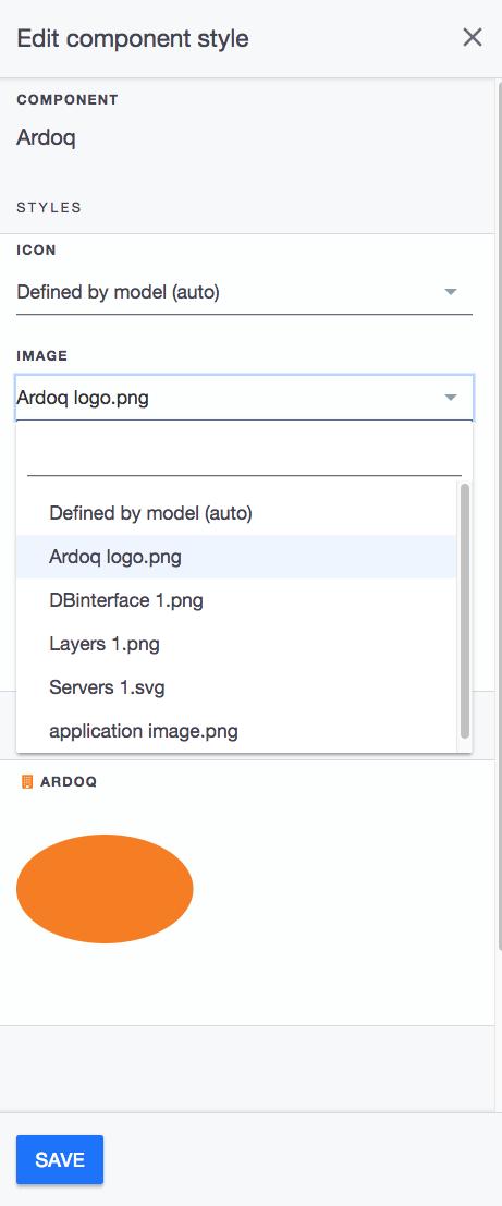 Ardoq select image