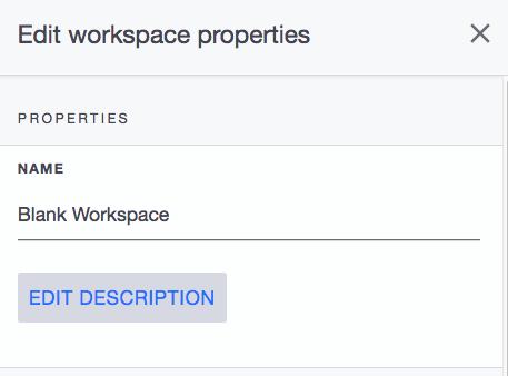 Ardoq edit workspace description