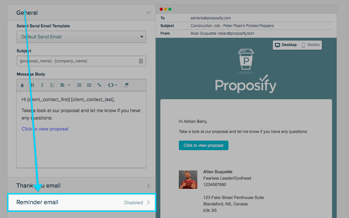 Setting Automatic Follow-Up Emails | Proposify Knowledge Base