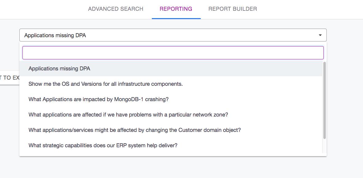 Ardoq queries reporting