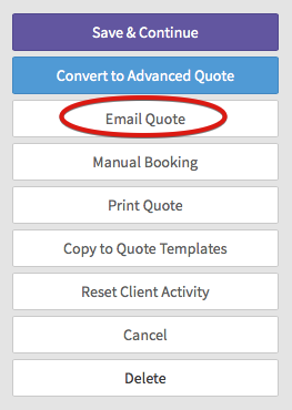 Creating A Quote Táve Support - How to send quotation email to customer