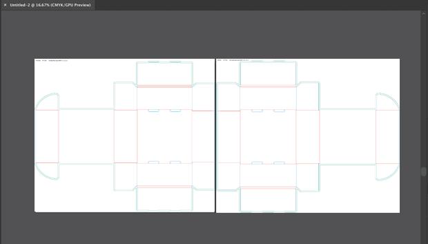 Custom box dieline template