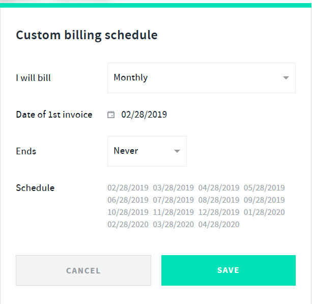 how can i create recurring invoice reminders chief operator help hq
