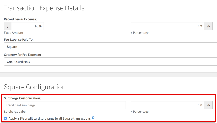 Applying A Surcharge To Online Transactions Táve Support - Square invoice fee