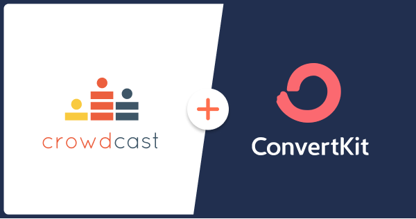 Screenshot with a link to the blog written about the crowdcast and convertkit integration.