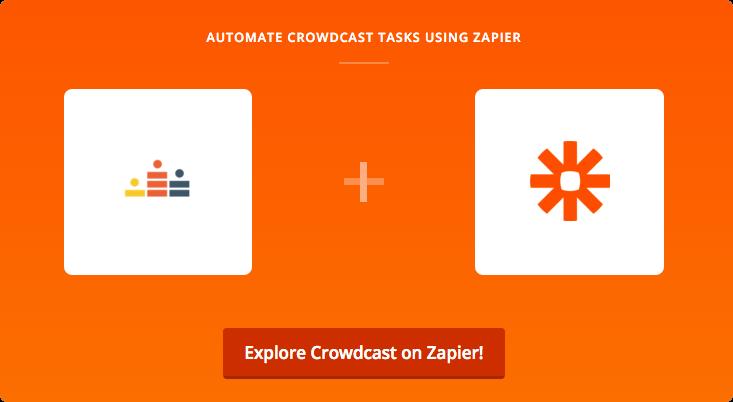 Crowdcast and Zapier logos