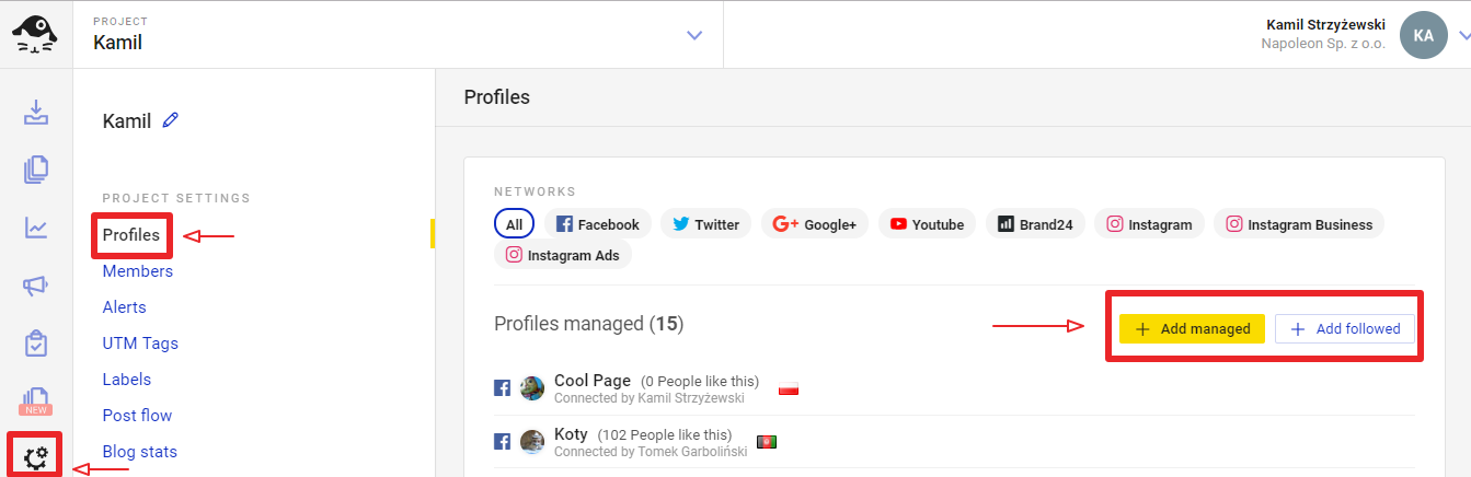 Adding Social Media Profiles and Pages