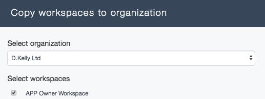 Ardoq copy workspace to organization