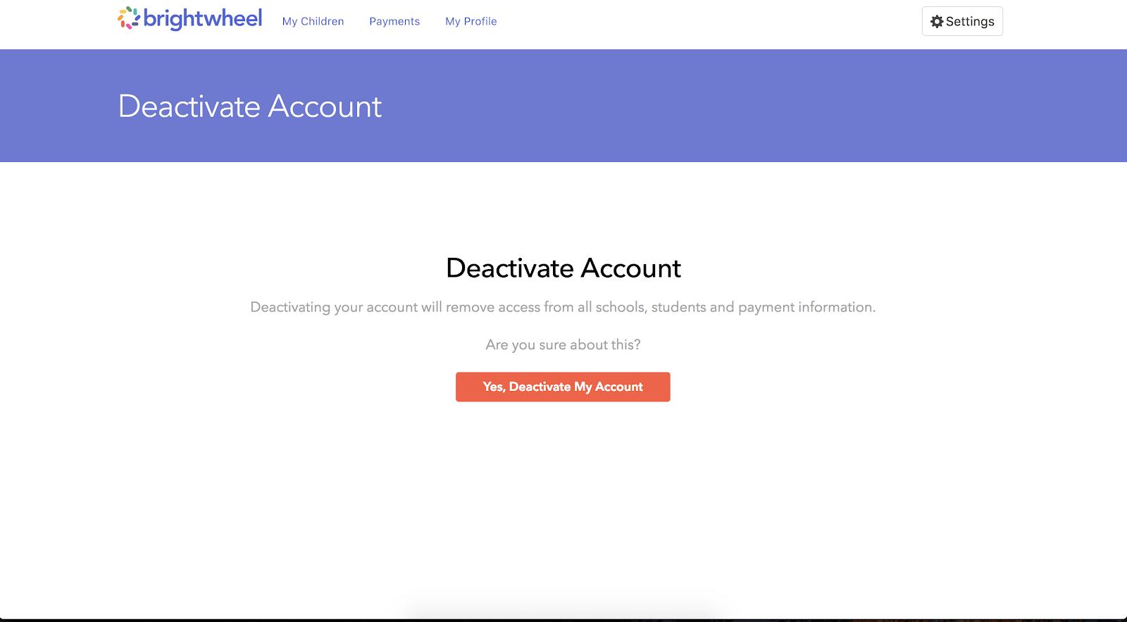 Deactivate my care com account