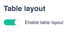 posBoss Table Layout
