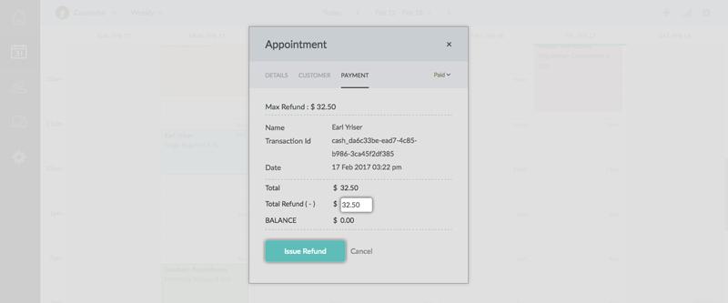 The Refund window with the Issue Refund button