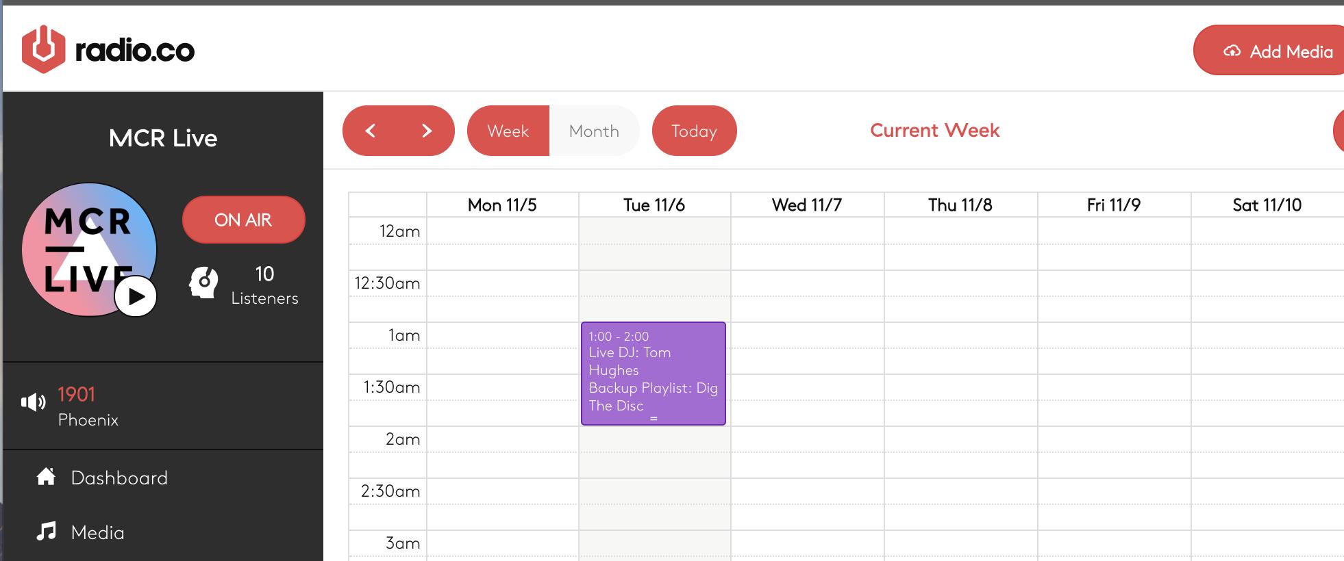 A schedule live event.
