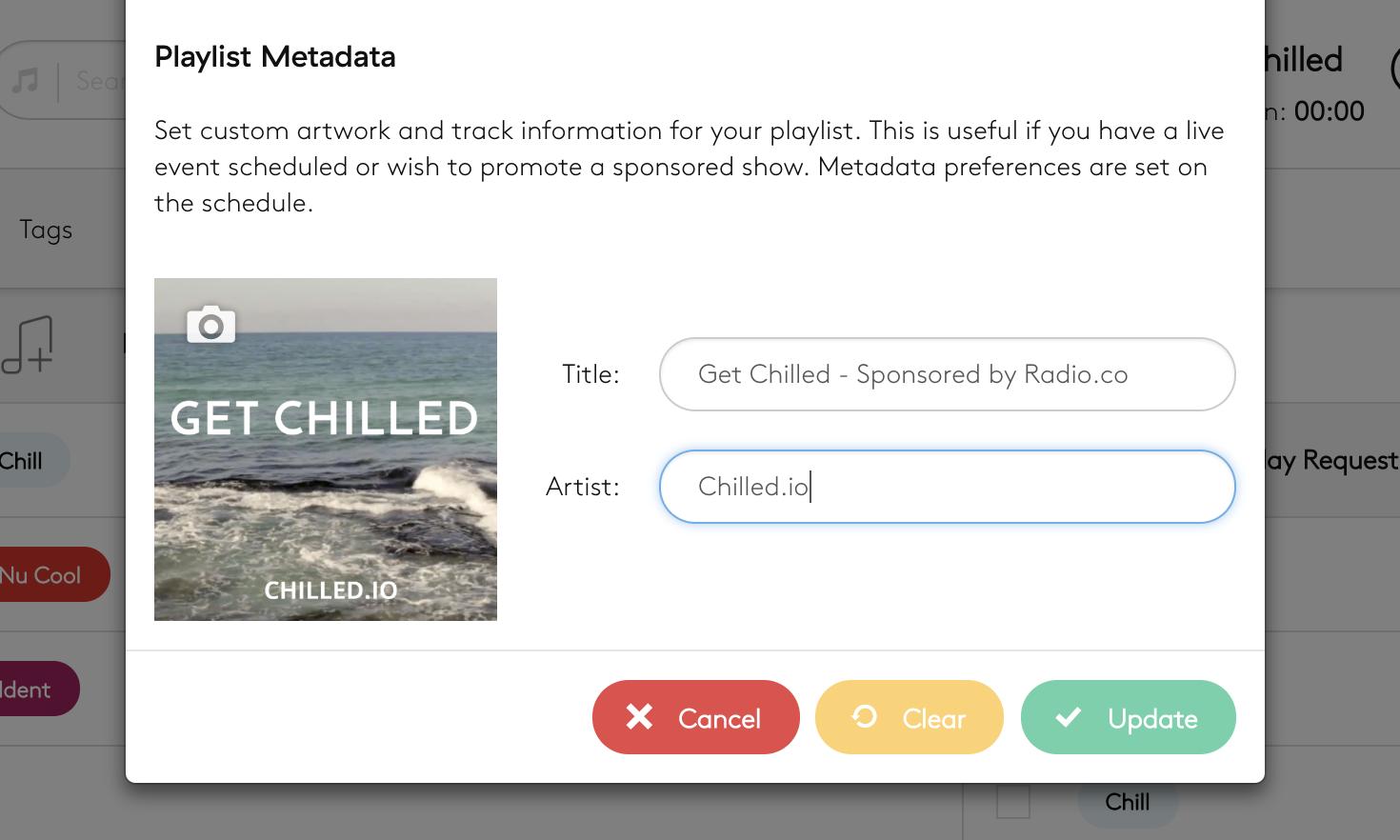 Playlist metadata