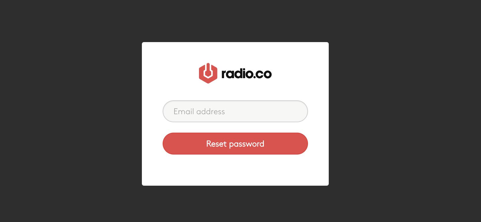 Enter Radio.co email
