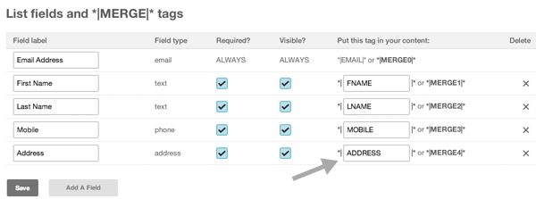 Mapping your Mailchimp fields with Setmore