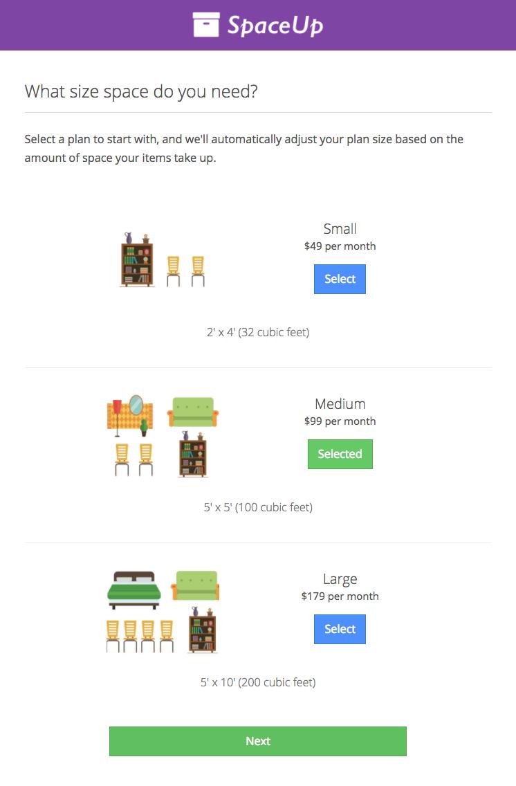 Plans in the Valet Customer App