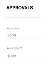 Approvers on Employee form