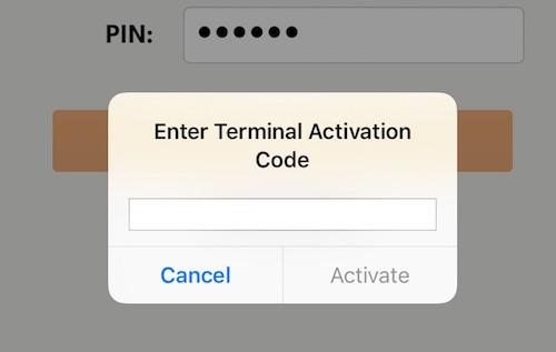 posBoss - Enter Terminal Activation Code for BNZ PayClip