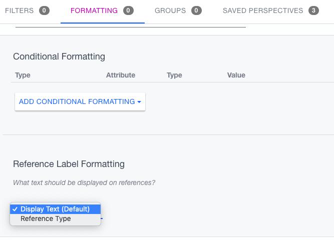 Ardoq label formatting settings