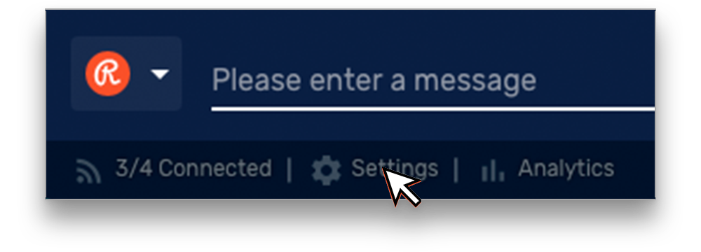 Restream Chat settings button