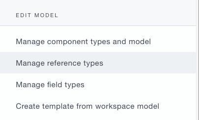 Ardoq manage reference types