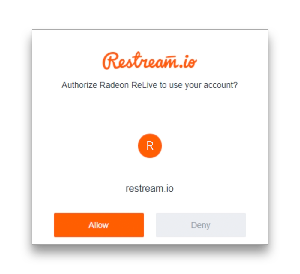Authorize AMD ReLive access