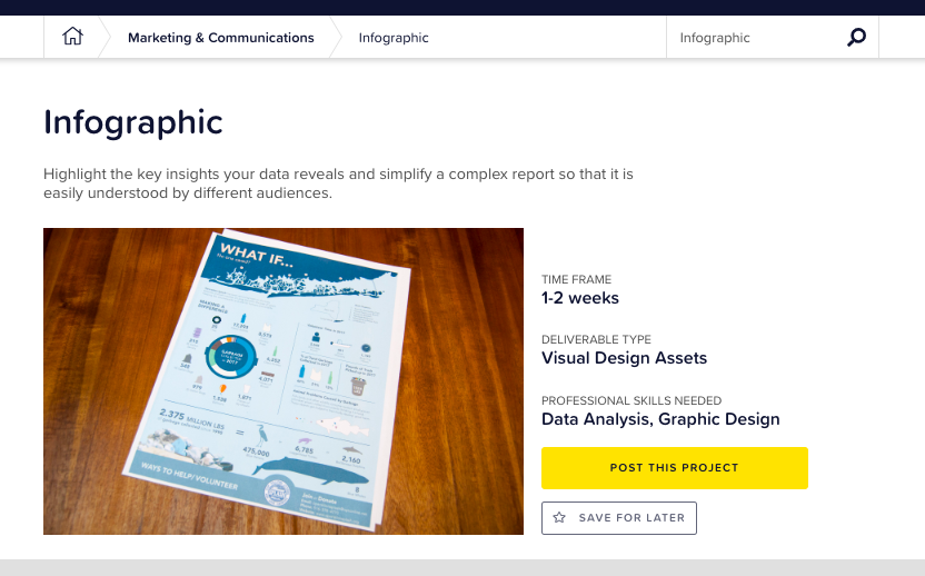 Image screenshot: Infographic project template