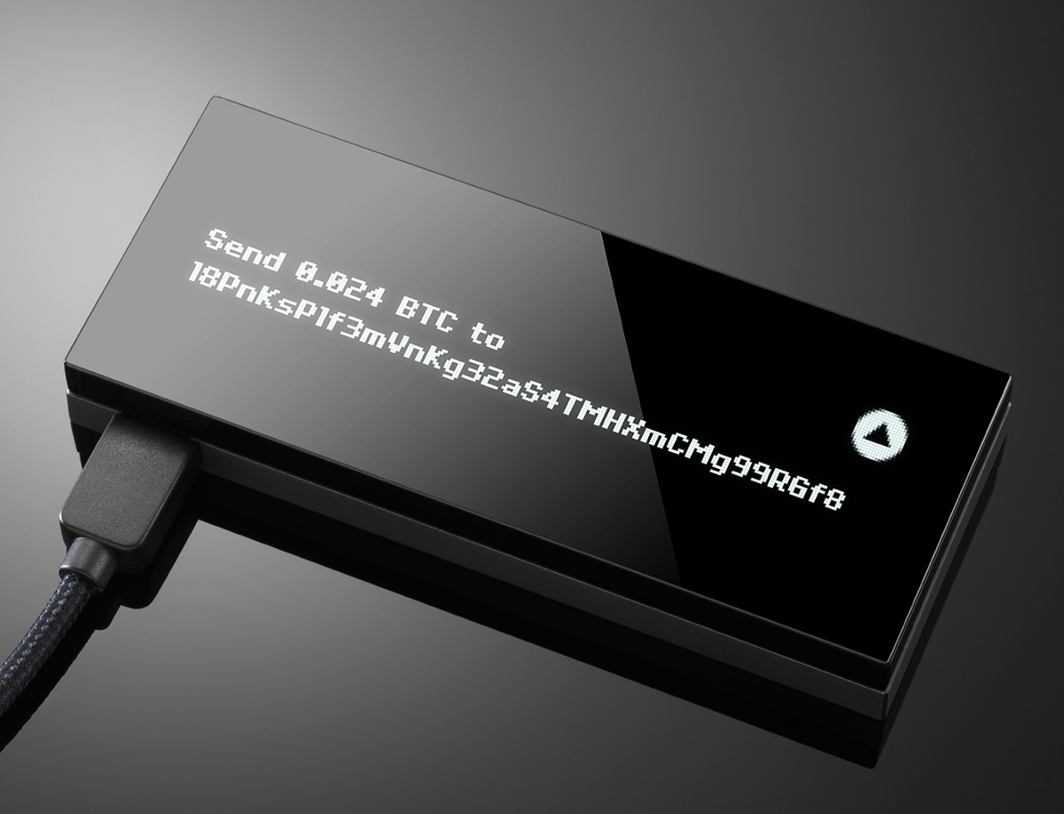 Image of a Hardware Bitcoin Wallet