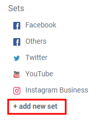 how to add a new set