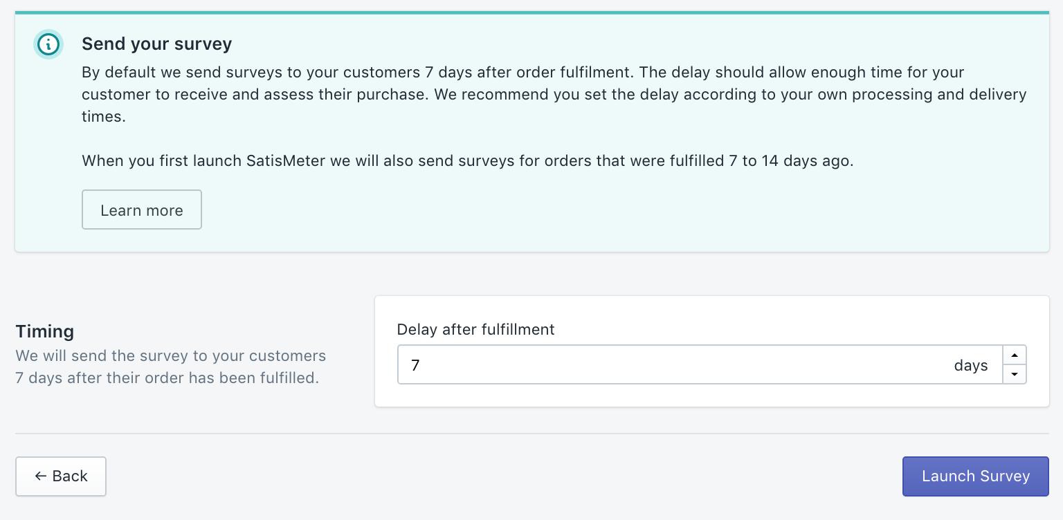 SatisMeter - Shopify integration Customer Survey