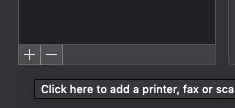 On the bottom left corner of the Printers and Scanners window, there's a plus sign. Click this to add a printer.