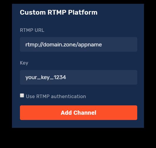Custom RTMP options