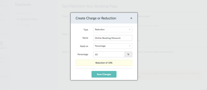 Adding discounts for online booking