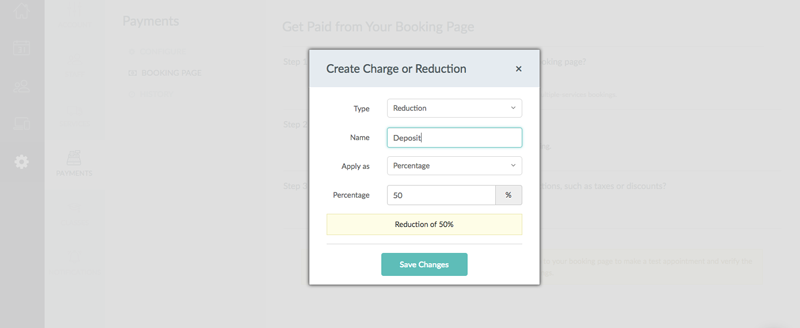 Creating a reduction for appointments booked through the Booking Page